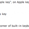 a visual reference to apple keyboard shortcuts